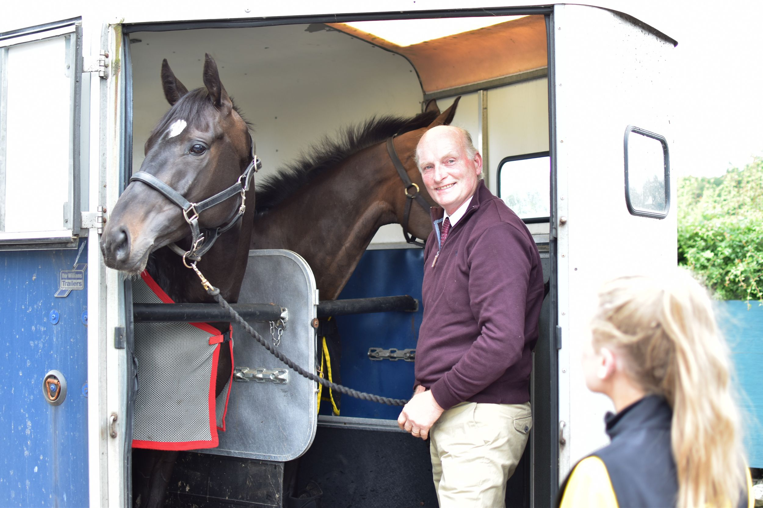 Trainer Ian Duncan arriving at Cartmel Racecourse