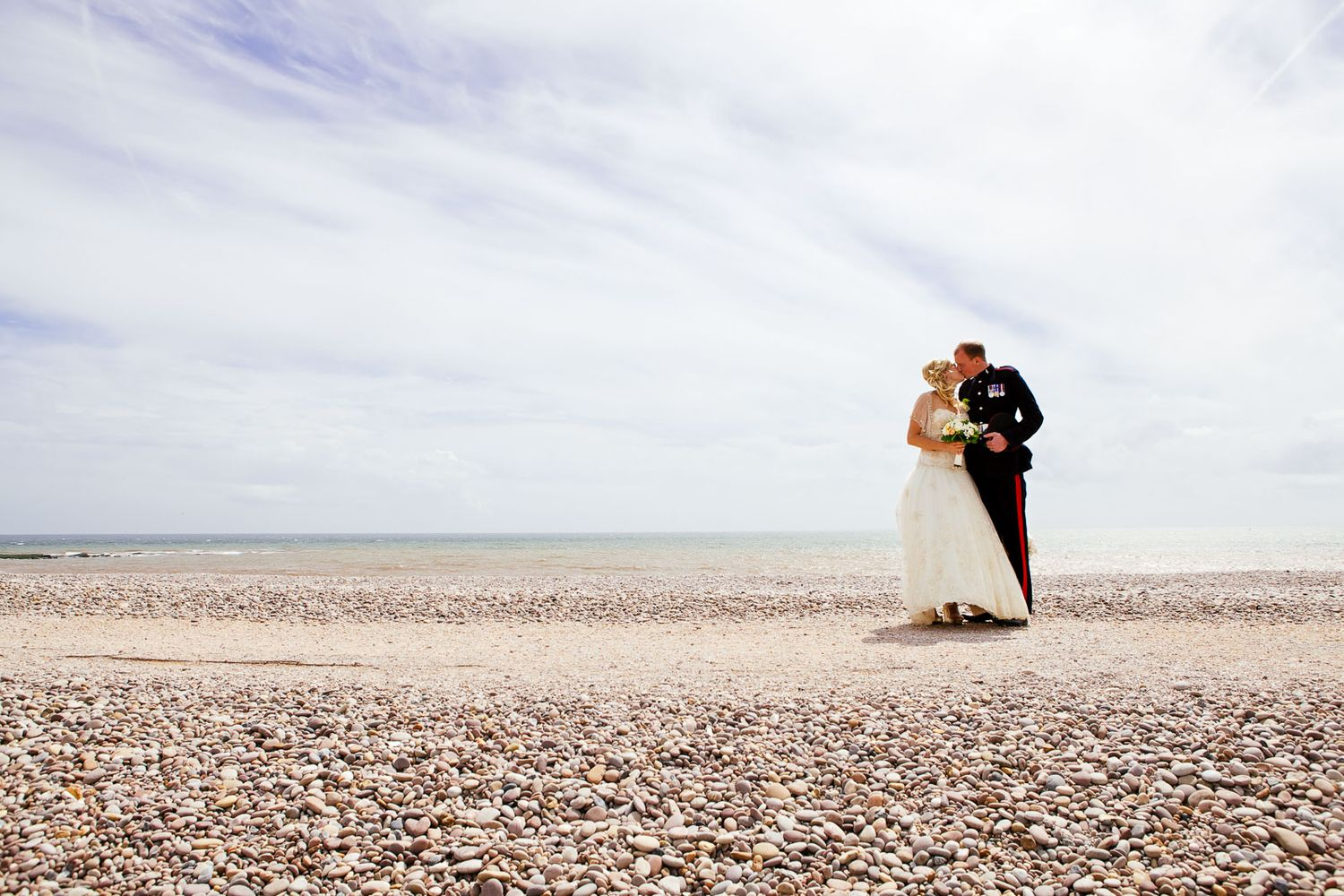 Budleigh Salterton beach wedding photography