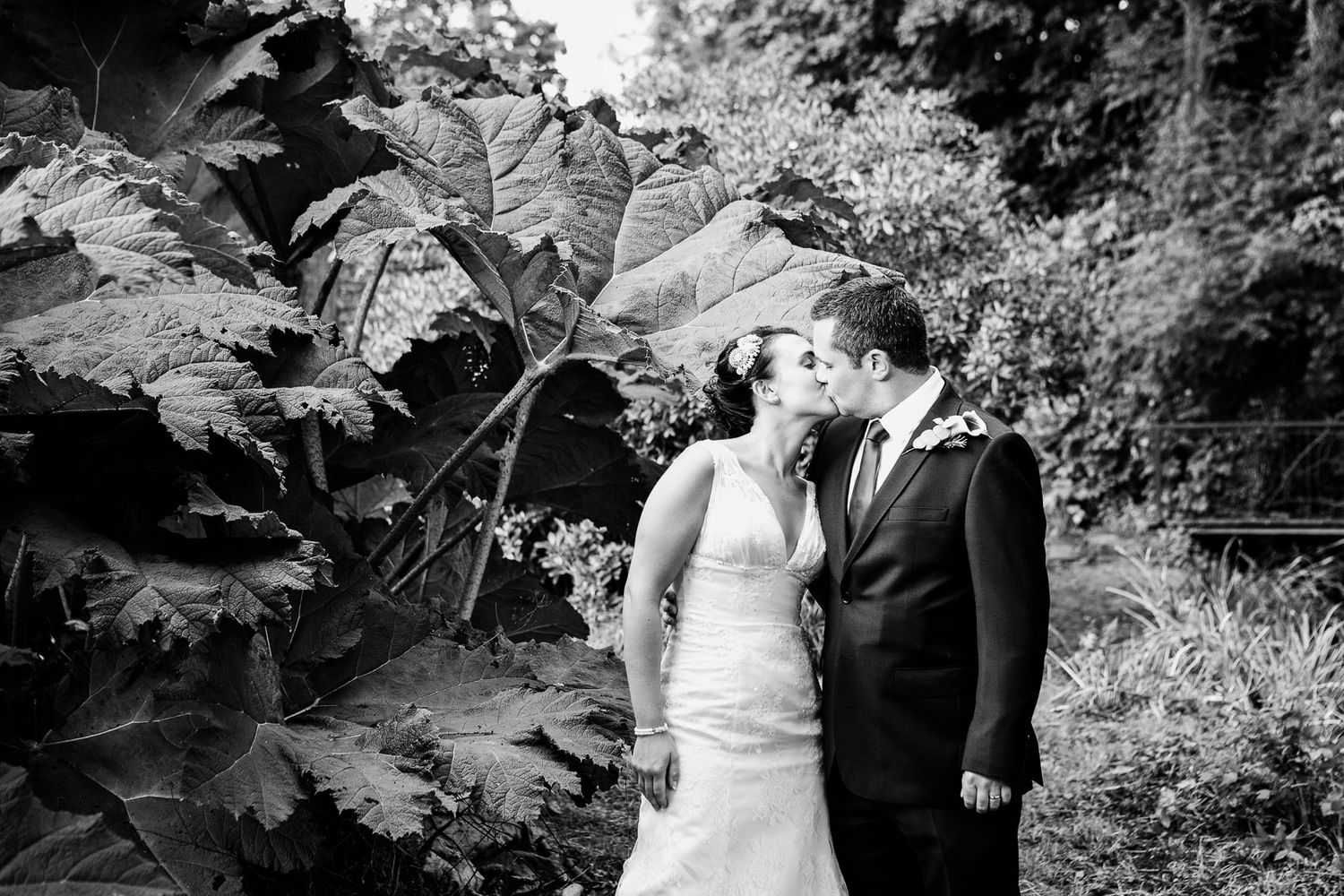 Dartmoor wedding photographer couple kissing