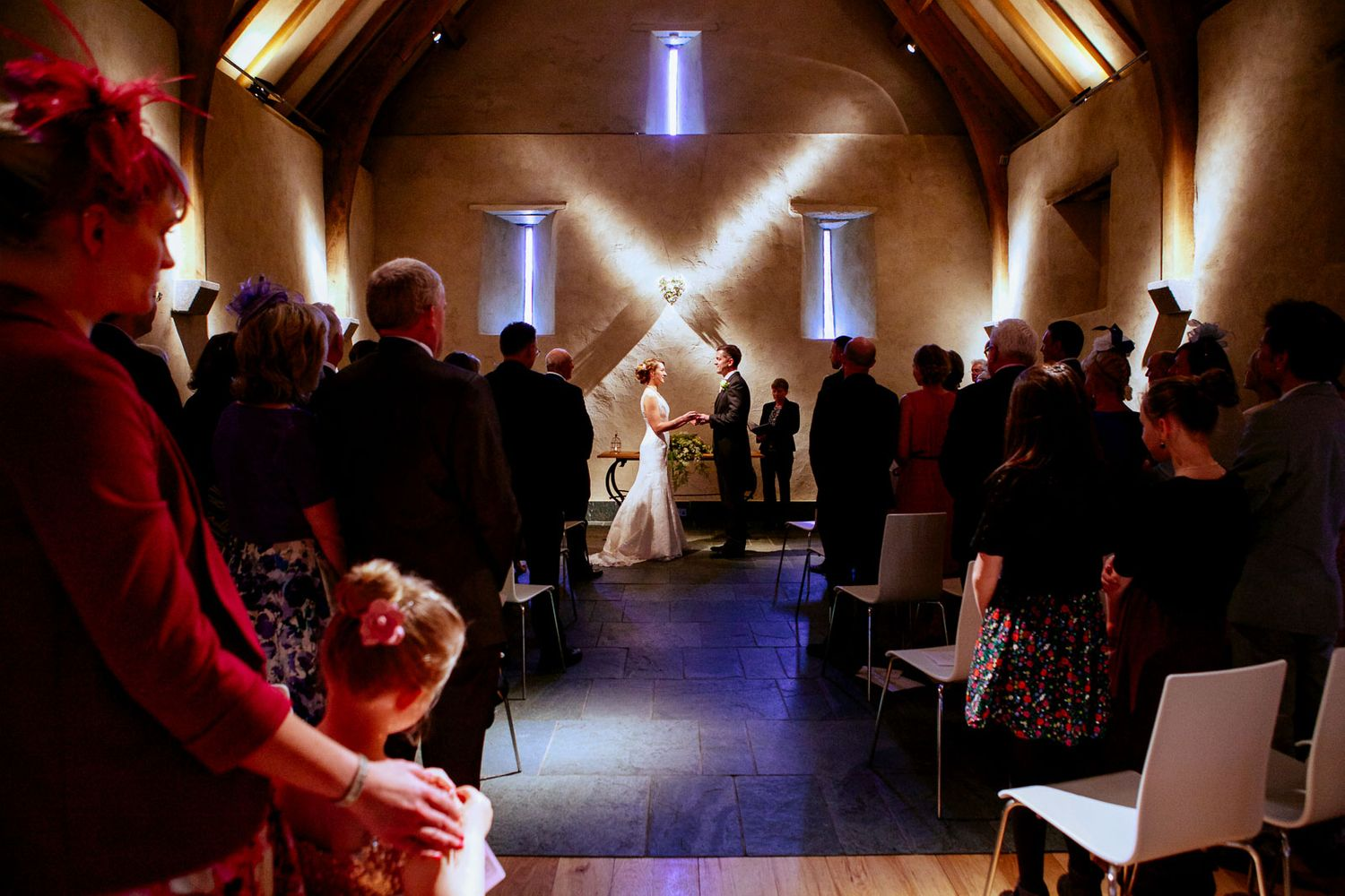 wedding ceremony Great Barn Devon
