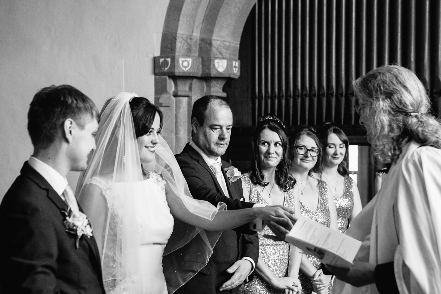 wedding ceremony in church in Devon by destination wedding photographer based in Tuscany