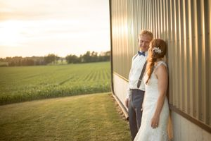 Country Sunset Bride and Groom