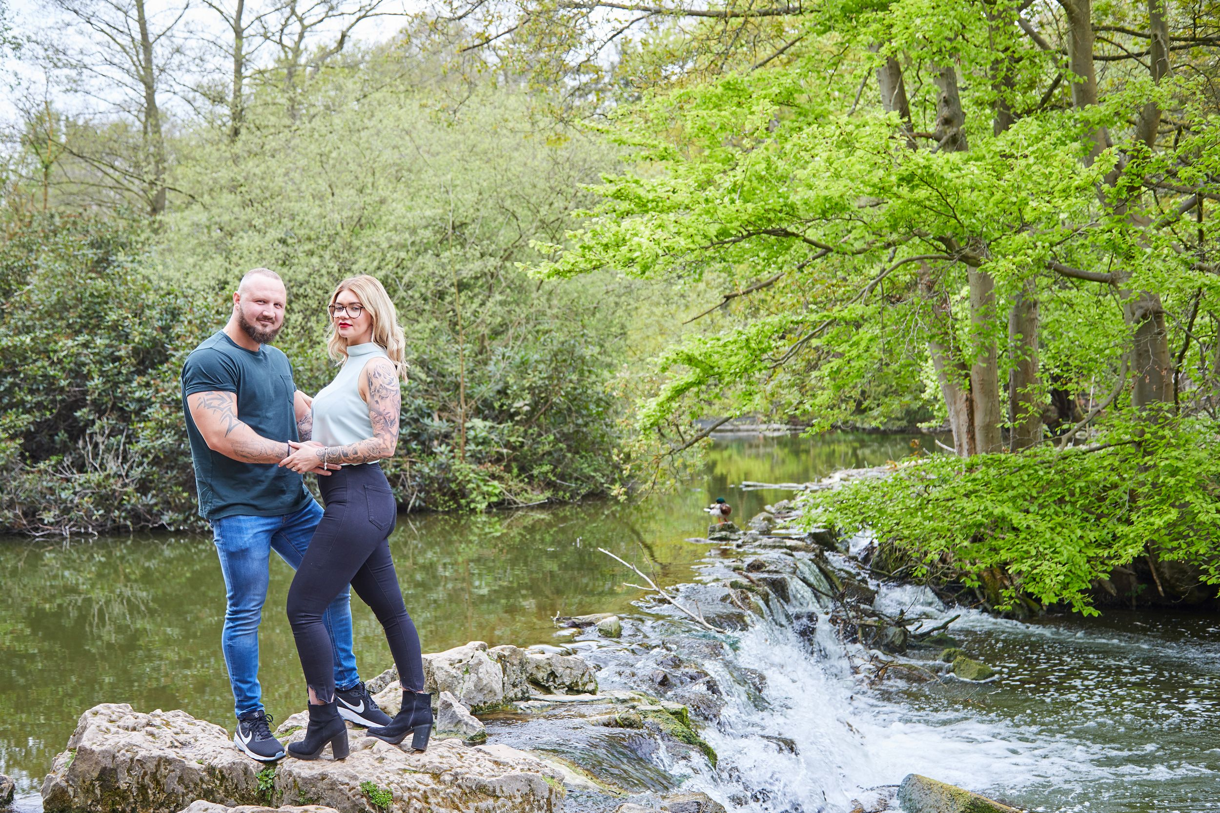 engaged couple photo at Clumber Park
