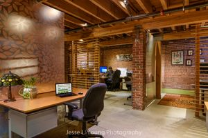 Shared office space interior design photography