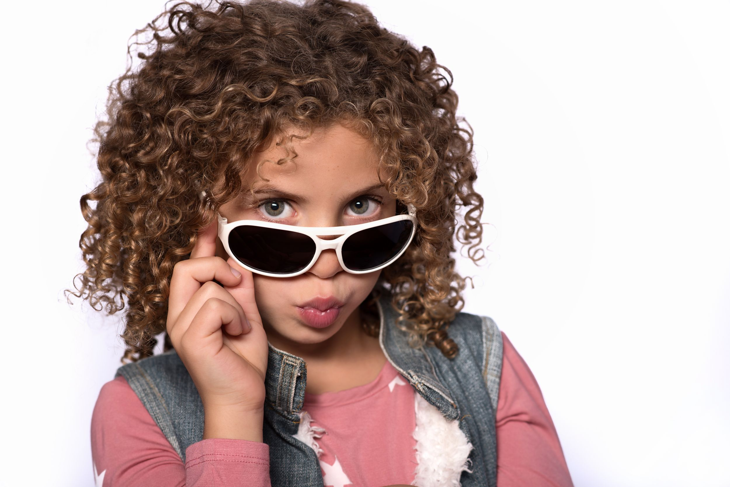 female child model with sunglasses