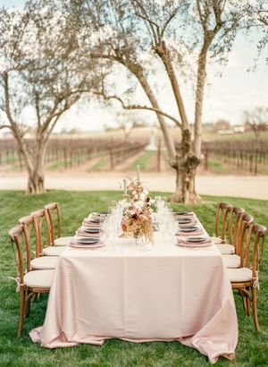 Wedding table details at Rava Wines wedding