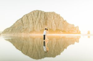 Engagement session at morro rock