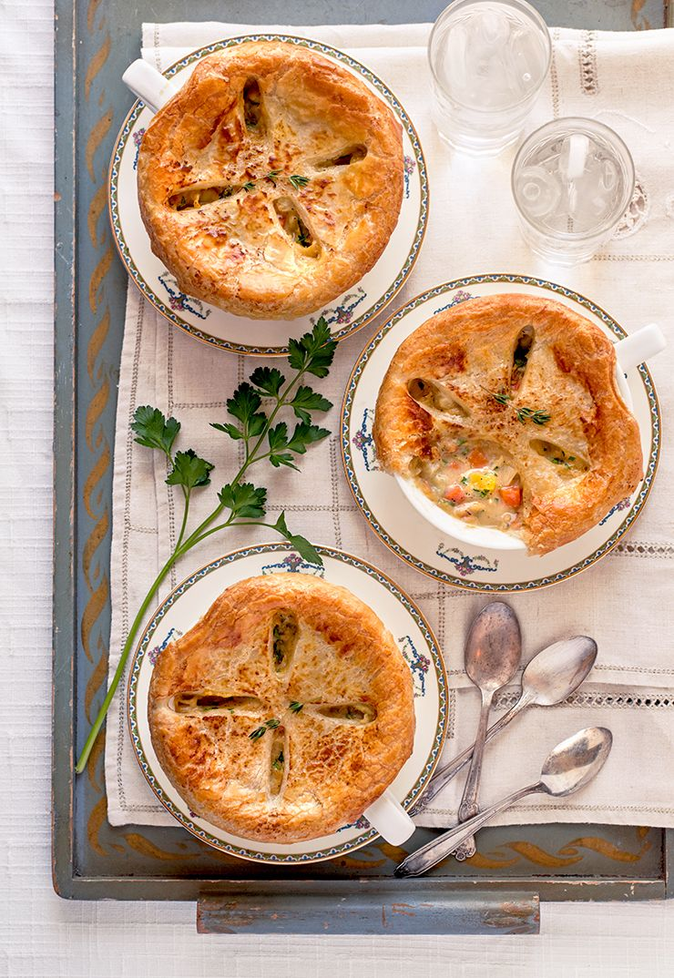 Individual Pot Pies Food Photography by Charity Beth Long