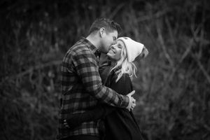 Lost Lake Winter Engagement Photo