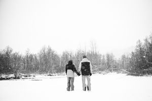 Winter Engagement Photography Whistler