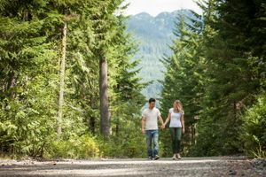 Cheakamus River Engagement Whistler Photography