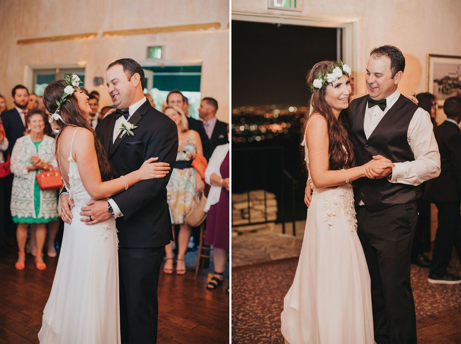 bride & groom first dance at la venta inn