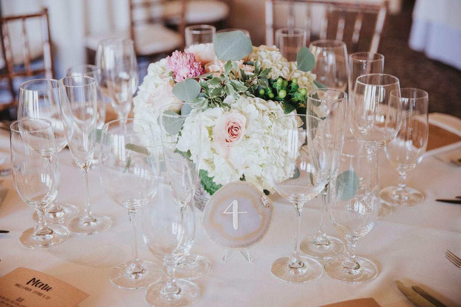 wedding reception table details at la venta inn