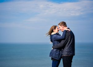 Mortehoe Engagement Photographs