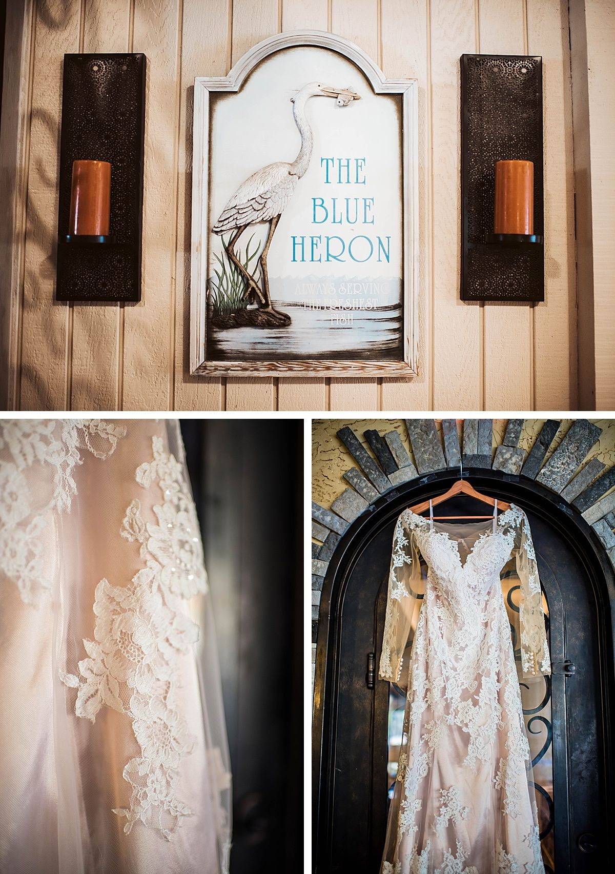 Coarsegold Central Valley California blue heron Yosemite grill wedding dress