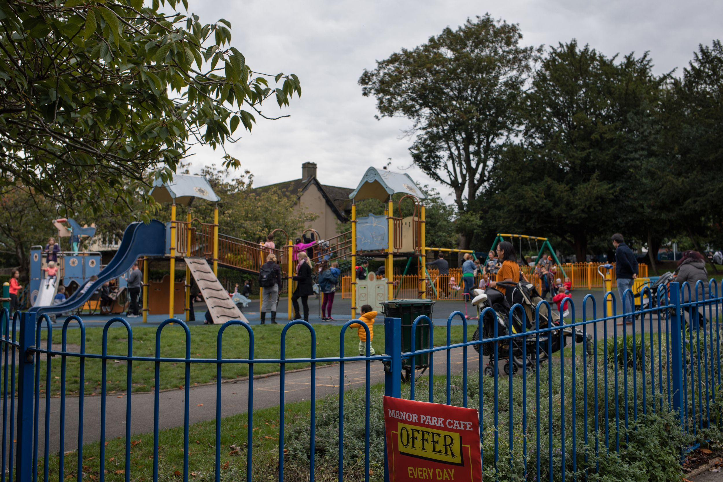 busy kids playground in Manor Park