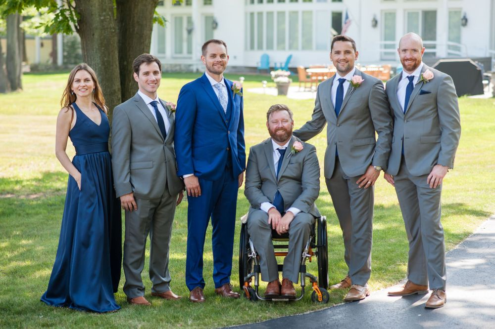 Visual Narrative Photography Michigan wedding photography portrait groomspeople
