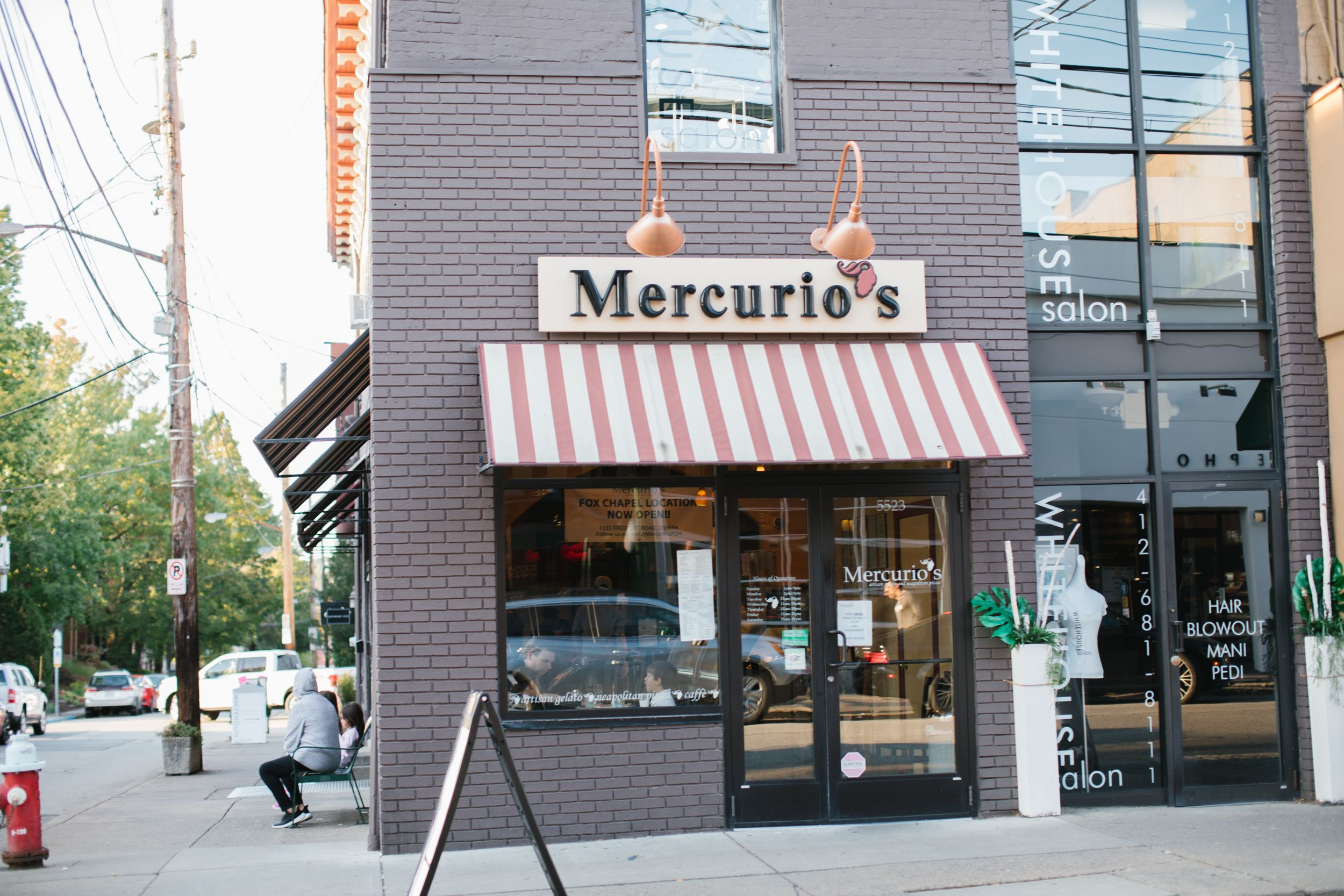 mercurios pizza restaurant in pittsburgh exterior