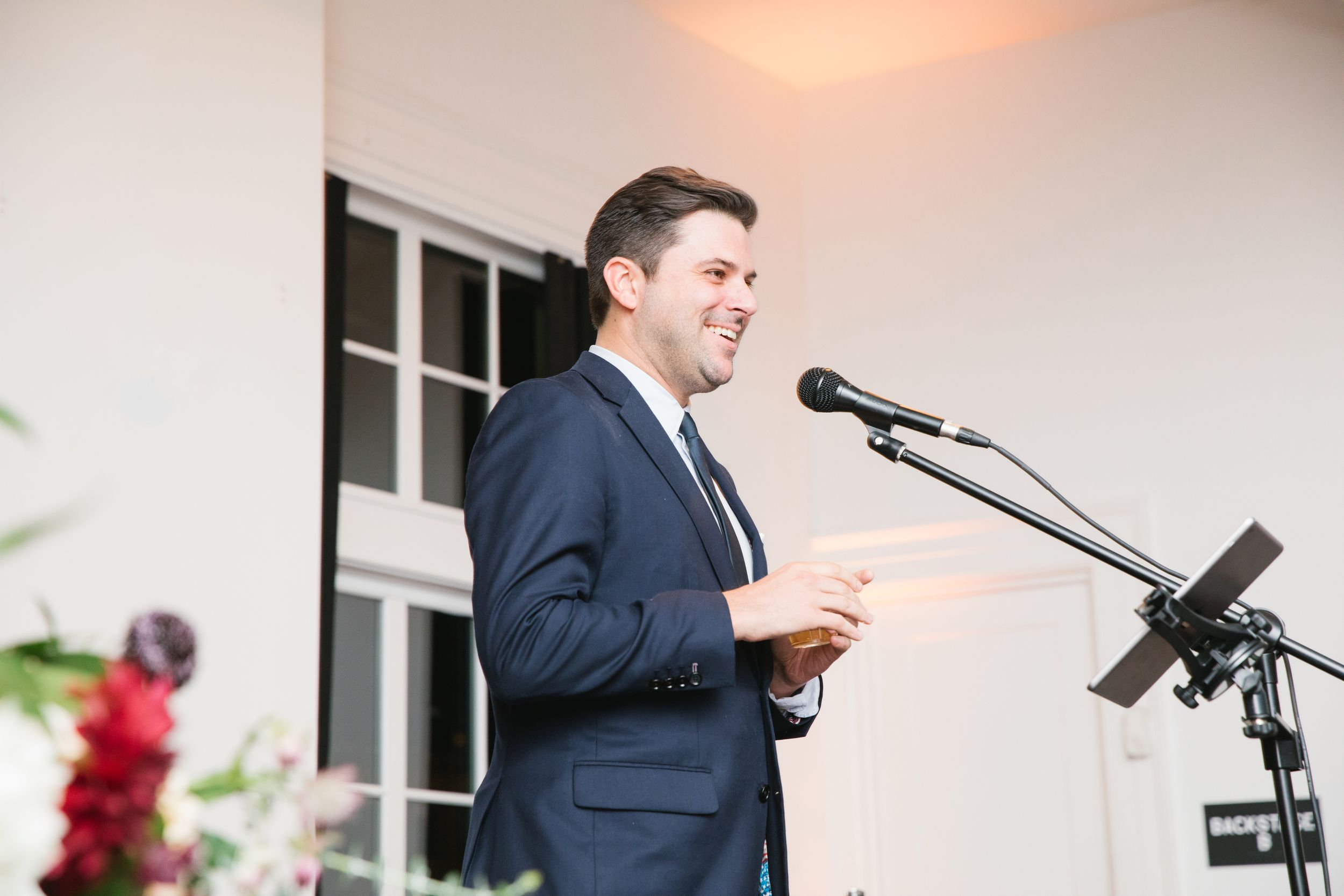 best man speech during reception