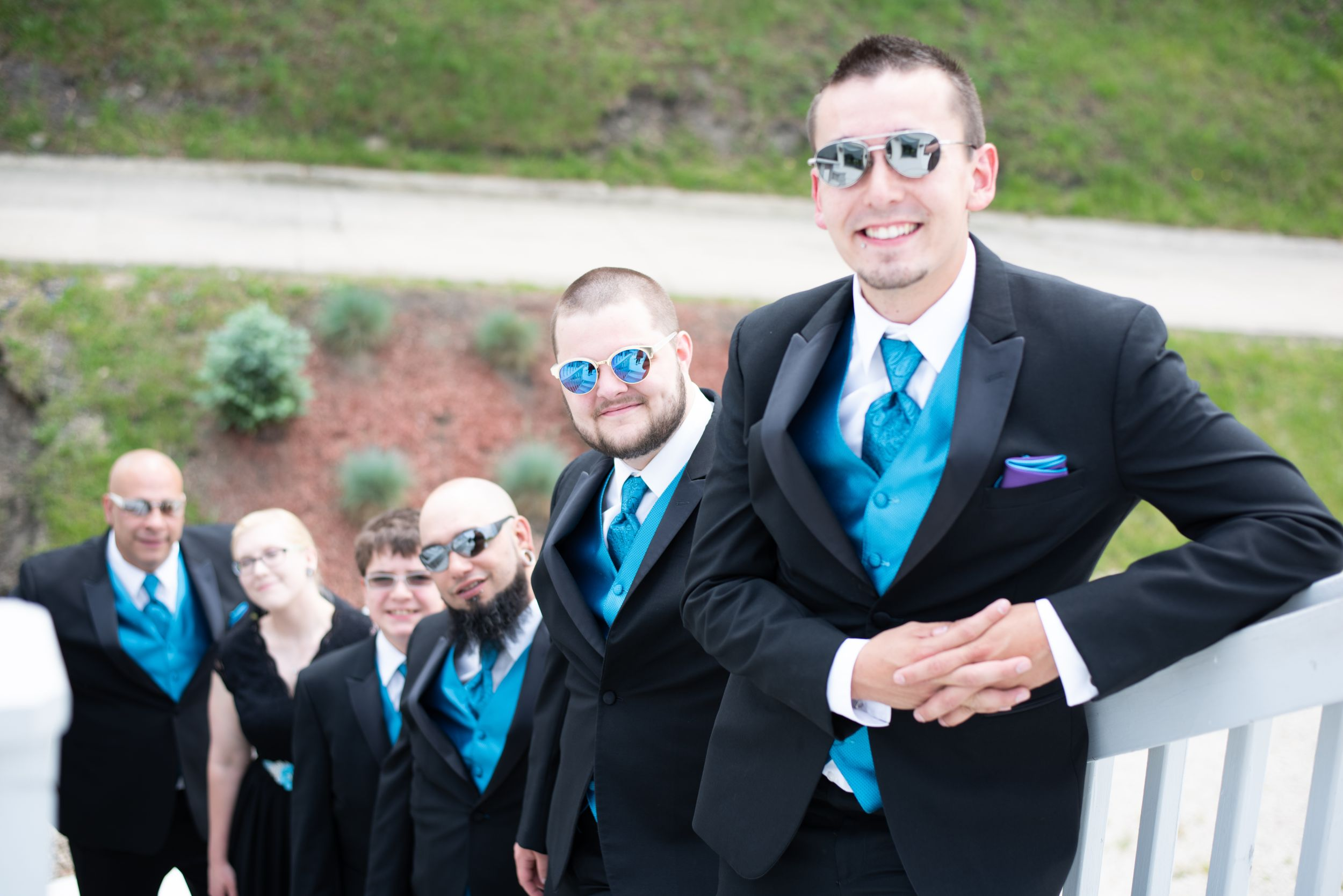 groom and his party, Skyview Lodge, Brunswick, Ohio