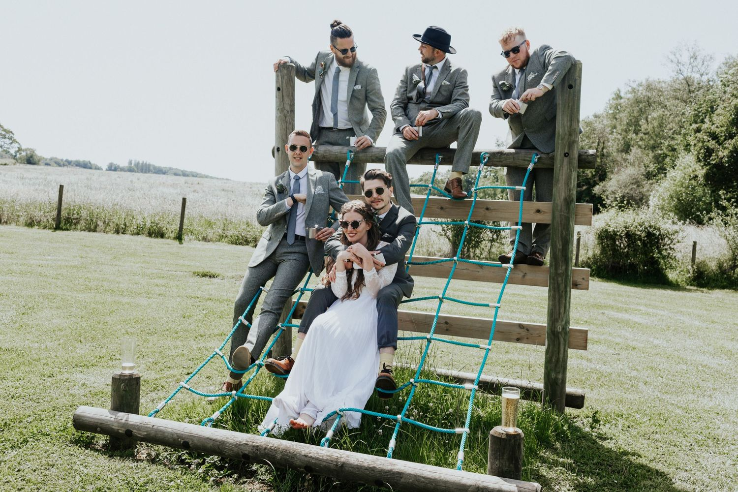 priston mill wedding bridal party group shots