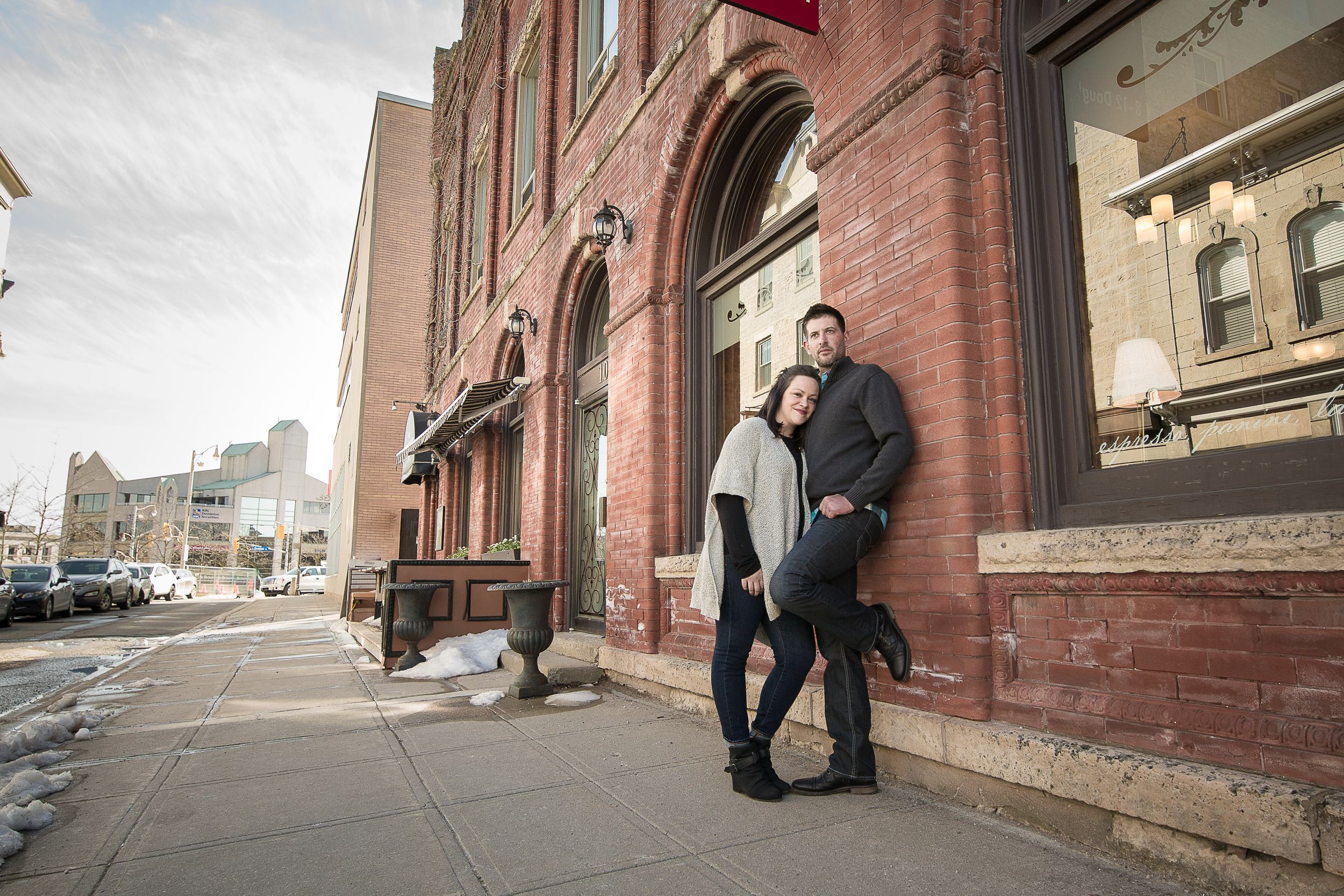 Downtown Guelph engagement
