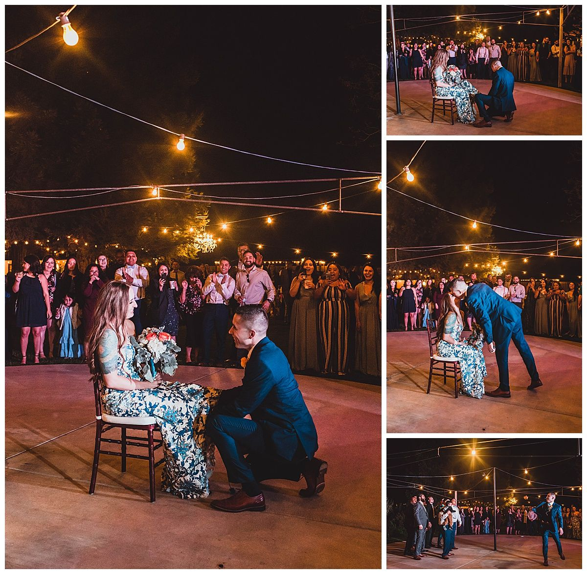 Central Valley California orchard wedding reception