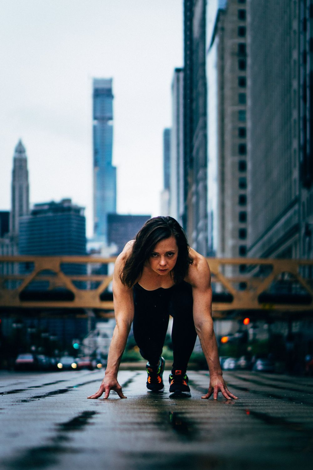 fitness sprint photoshoot in chicago