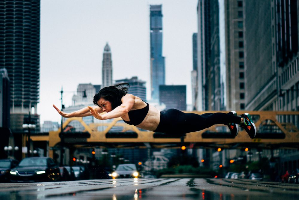 fitness superman photoshoot in chicago
