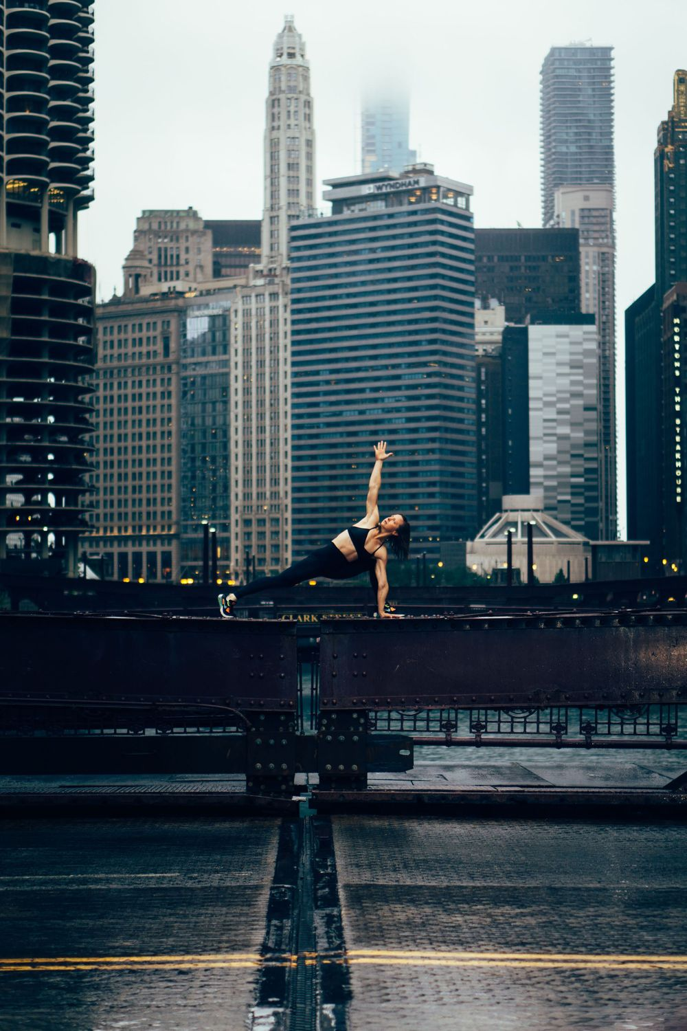 fitness yoga photoshoot in chicago