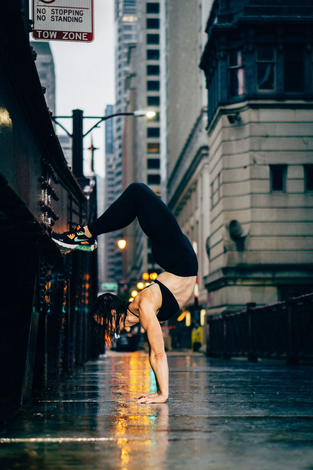 fitness headstand photoshoot in chicago