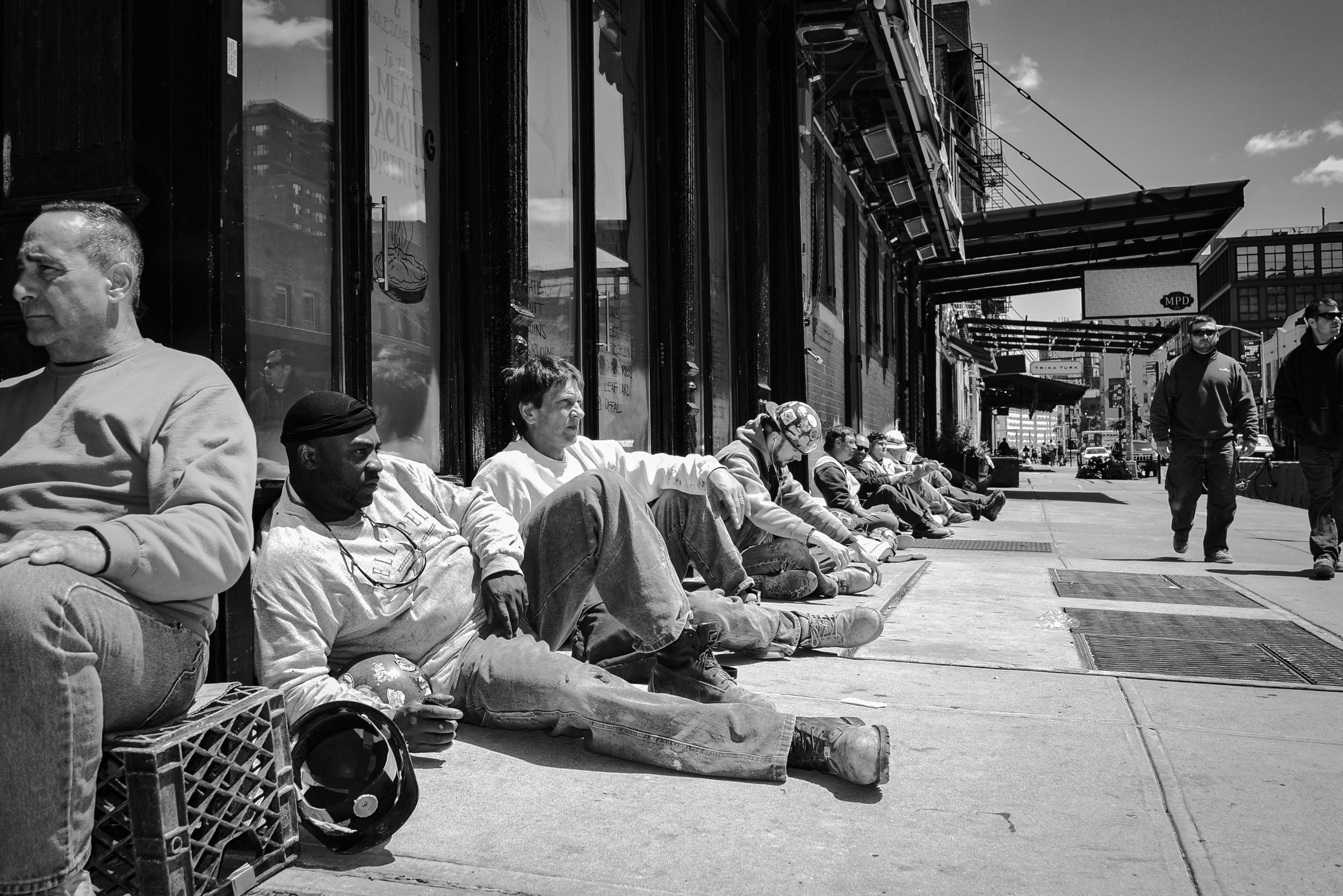 Lunch break. Meatpacking district, Manhattan, NYC. New York.